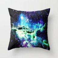 Galaxy Clouds Throw Pillow