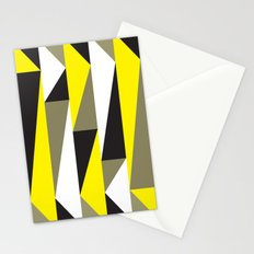 Yellow & black triangle pattern Stationery Cards