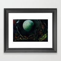 The Lunar Garden Framed Art Print