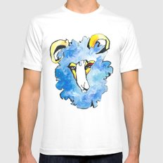 sheep SMALL White Mens Fitted Tee