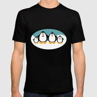 NGWINI - Penguin Family … Mens Fitted Tee Black SMALL
