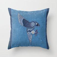 Aboriginal Hawk Wings Attack Throw Pillow