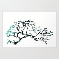 Blue Dogwood Art Print