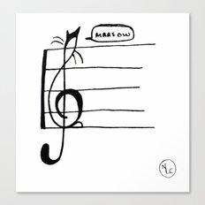 Treble Clef Cat Canvas Print