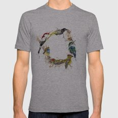 Endangered Wreath Mens Fitted Tee Athletic Grey SMALL