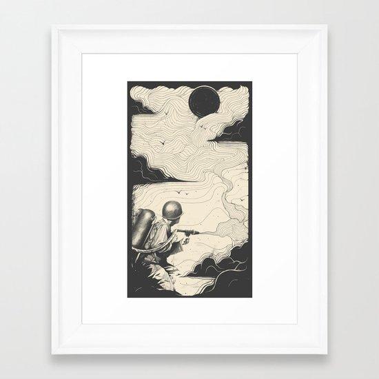 Sky Thrower Framed Art Print