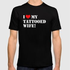 Tattooed Wife Black SMALL Mens Fitted Tee