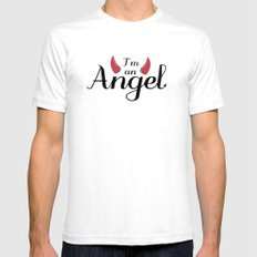 I'm an Angel...not White Mens Fitted Tee SMALL