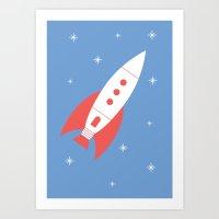 #78 Rocket Art Print