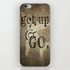 Get Up & Go iPhone & iPod Skin
