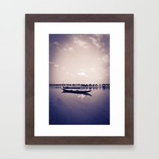 Mekong still Framed Art Print