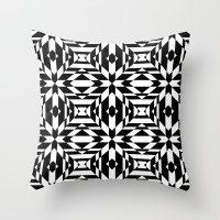 Black and White Tile Throw Pillow