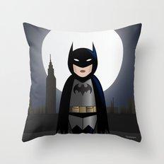 Bat-kokeshi Throw Pillow