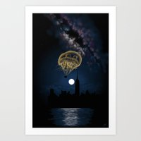 Moon Light Ride Art Print