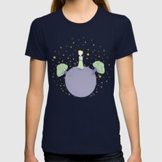 The Little Prince Womens Fitted Tee Navy SMALL