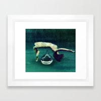 In the depths Framed Art Print