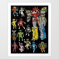 Mighty Melty Power Rangers Art Print