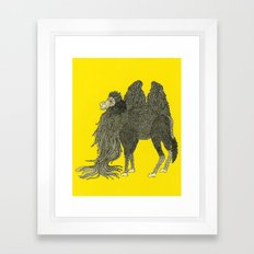 Yellow Camel Framed Art Print