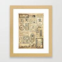 Frames II Framed Art Print