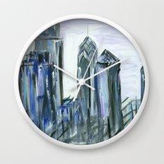 Gray Philadelphia Skyline Wall Clock