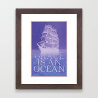 Grace is an Ocean Framed Art Print