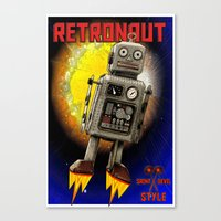:: RETRONAUT Canvas Print