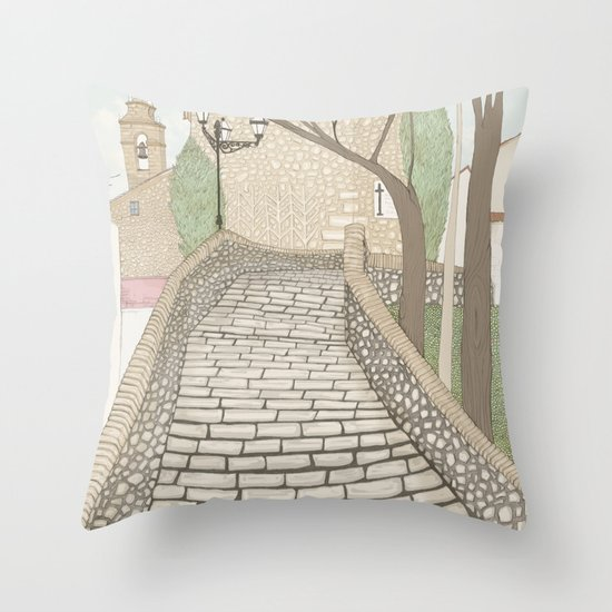 """LA PUENTE"" de Alcañizo Throw Pillow"