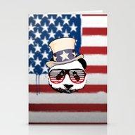 Patriotic Panda Stationery Cards