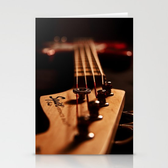 Bass Guitar  Stationery Card