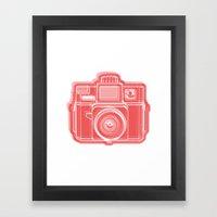 I Still Shoot Film Holga Logo - Red Framed Art Print
