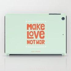 Make Love, Not War iPad Case