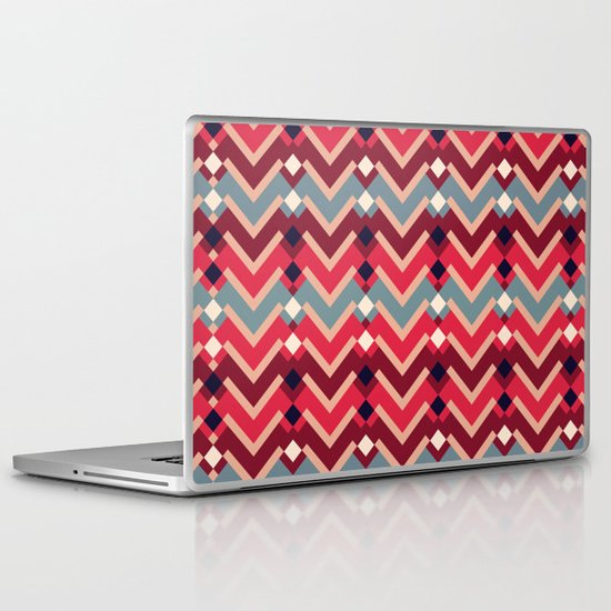 Fractal Mountains - candy Laptop & iPad Skin