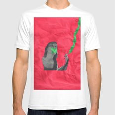 Watermelon Cigarettes White SMALL Mens Fitted Tee