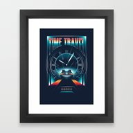 Framed Art Print featuring Time Travel by Steven Toang