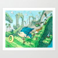 Starring Sonic And Miles… Art Print