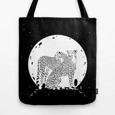 Moonlight Cheetahs Tote Bag