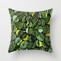 Aristoloschia Green Throw Pillow