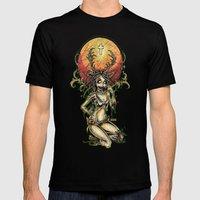 Zombie Jagger Girl Mens Fitted Tee Black SMALL