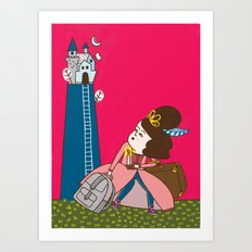 Runaway Princess Art Print