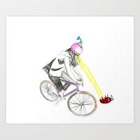 Fixie&bug Art Print