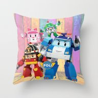 Robocar Poli Decoration … Throw Pillow
