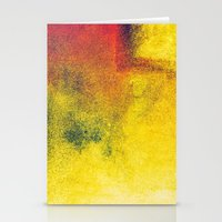 yellow, red, a bit of green Stationery Cards