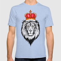 Lion King Mens Fitted Tee Tri-Blue SMALL