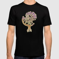 Potombo tree Mens Fitted Tee Black SMALL