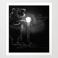Drawn to the light Art Print