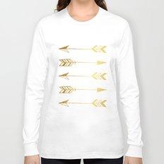Faux gold foil arrows Long Sleeve T-shirt