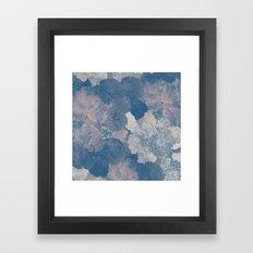 Airforce Blue Floral Hues  Framed Art Print