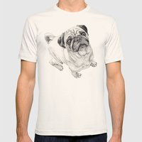 Seymour the Pug Mens Fitted Tee Natural SMALL