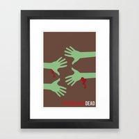 The Walking Dead - Minim… Framed Art Print
