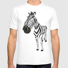 Zebra SMALL Mens Fitted Tee White